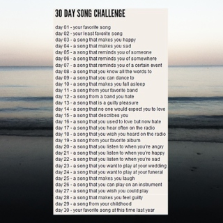 [thirty day song challenge]