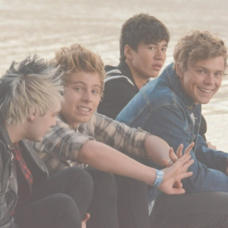 night in l.a with 5sos