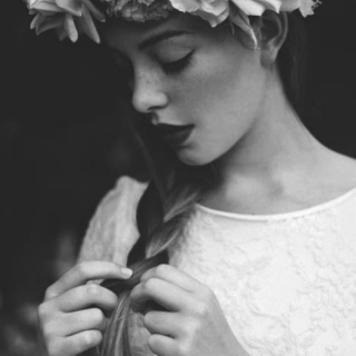 She had flowers in her hair;