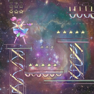 Magical Fairy Video Game in Space