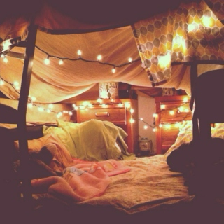 tangled legs and blanket forts