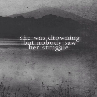 she was drowning