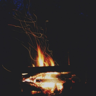 late night campfires