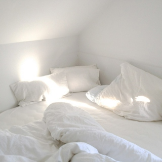 under the covers // white sheets