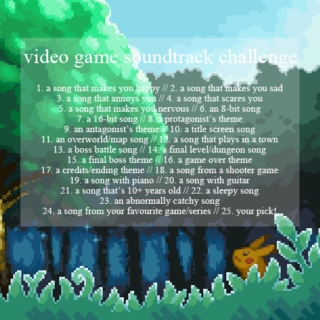 video game soundtrack challenge