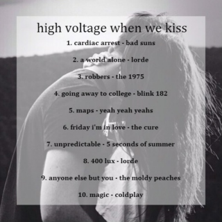 high voltage when we kiss