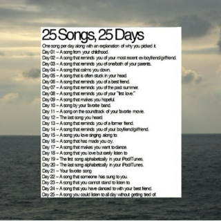 25 Songs, 25 Days Challenge