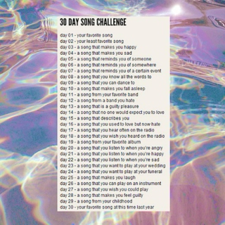 ♡ thirty songs challenge ♡