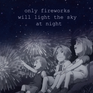 only fireworks will light the sky at night