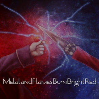 Metal and Flames Burn Bright Red