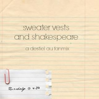 sweater vests and shakespeare