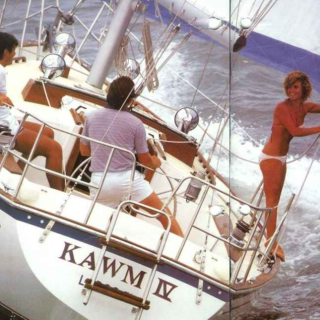 Rich british people sailing through the Mediterranean in the 80s