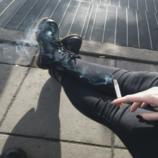 cold hands and cigarettes.