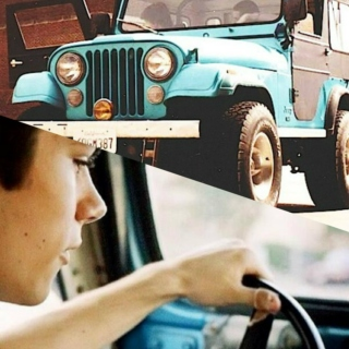You, me, in the old jeep