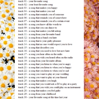 ✿ 30 song challenge ✿