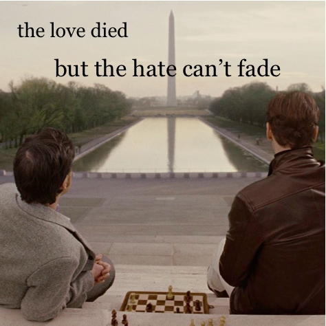 the love died, but the hate can't fade