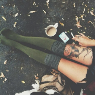 knee socks in autumn