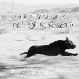 even a dog gets tired of being kicked