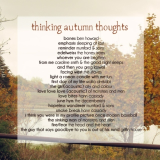 thinking autumn thoughts