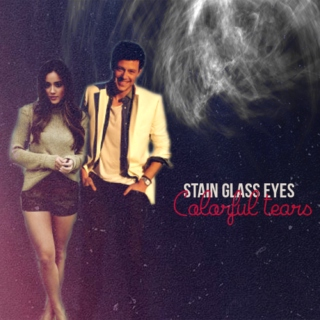 Stain Glass Eyes Colorful tears