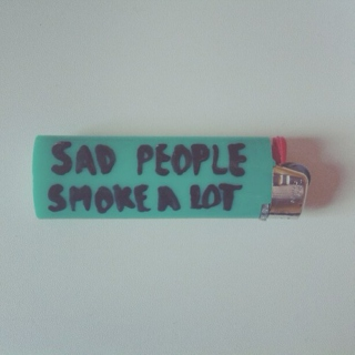sad people smoke a lot
