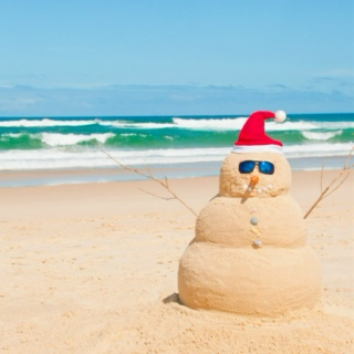 christmas in australia on a scorching summer's day