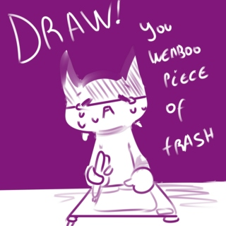 Let's draw you piece of weaboo trash