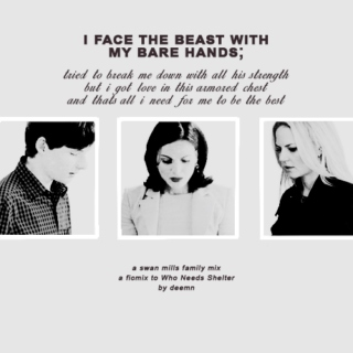I face the beast with my bare hands;