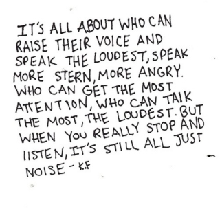 It's just about the noise