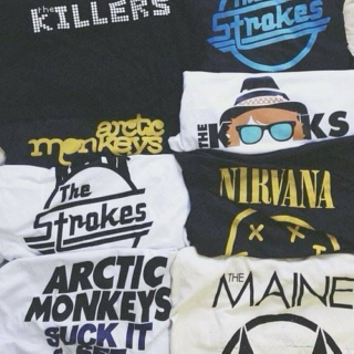 the bands on my tshirts \m/