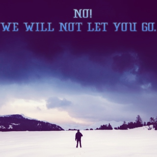 NO! WE WILL NOT LET YOU GO.