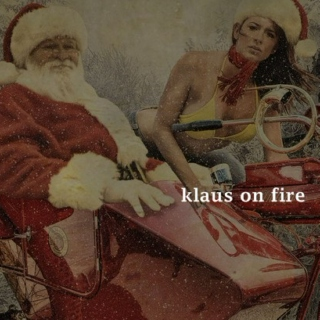 klaus on fire