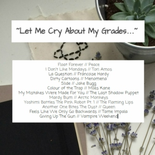 Let Me Cry About My Grades...