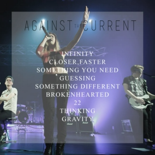 against the current stripped