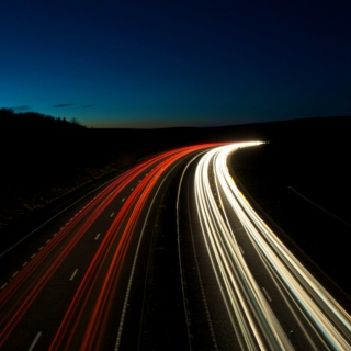 Motorways at night