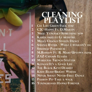 Cleaning playlist - 01/2015