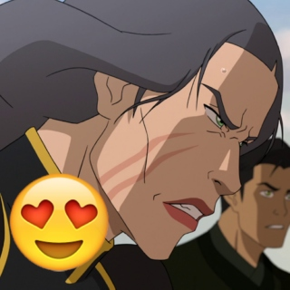 a smooch-smudged print-out of lin beifong's face