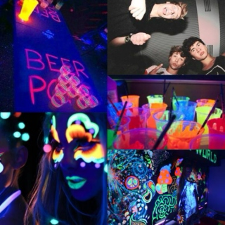 black light party w 5sos - illuminated
