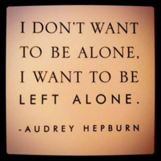 Want to be left alone