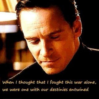 When I thought that I fought this war alone, we were one with our destinies entwined