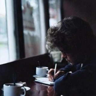 the boy at the coffee shop