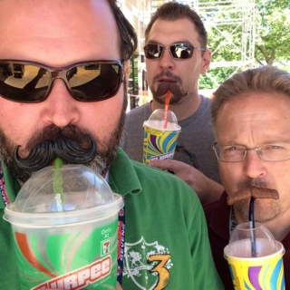 Mustaches and Slurpees.