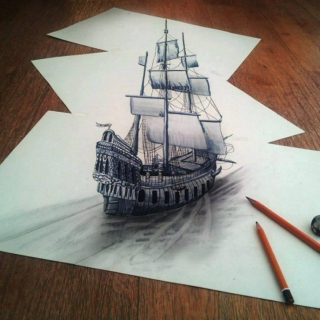 sailboat on paper HB.2