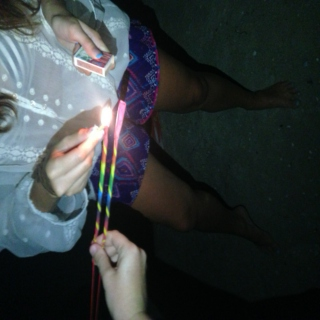 sparklers and streamers