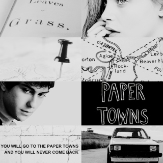 Its a Paper Town. Paper Houses & Paper People.