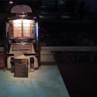 empty diner, ghost jukebox