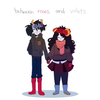 between roses and violets