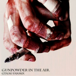 GUNPOWDER IN THE AIR.