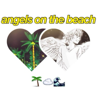angels on the beach