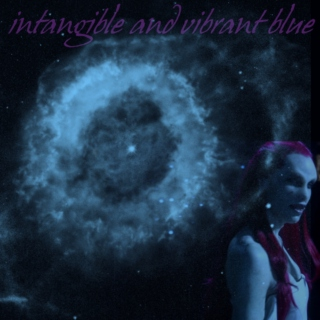 intangible and vibrant blue